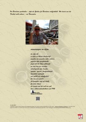Erinnerungen an Dijon (Rassisten - Frieden - Freiheit -Barcelona)  Gedicht - Gedanken
