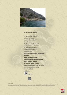 Am Ufer Lago die Garda (Gesellschaft, Mensch, Politik) - Gedichte -Gedanken
