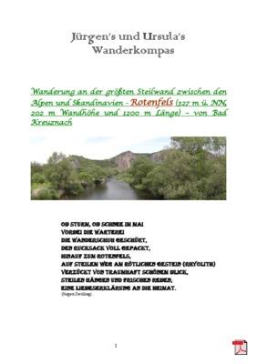 Wandertourbeschreibung - Rotenfels-Wanderung