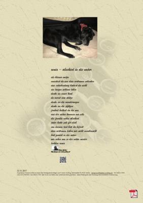 Xenia - Abschied in die Natur (Tier, Mensch, Familie, Hund)- Gedichte -Gedanken