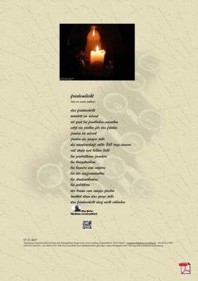 Friedenslicht (Mensch, Gesellschaft) - Gedichte -Gedanken