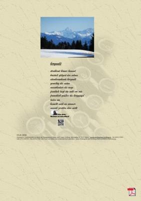 Bergwelt(Gesellschaft, Mensch, Natur ) - Gedicht - Gedanken