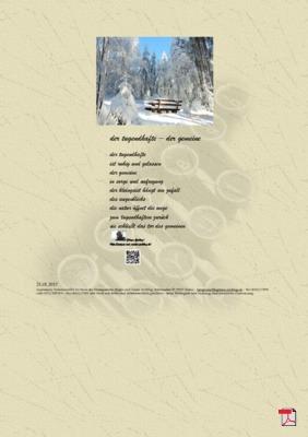 Der Tugendhafte - Der Gemeine (Gesellschaft, Mensch)  - Gedicht - Gedanken