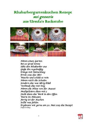 Rhabarbergartenkuchen Rezept  sui generis