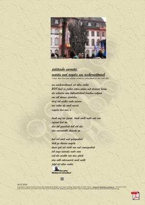 Politische Narretei Martin und Angela Am Aschermittwoch (Gesellschaft, Politik) - Gedicht - Gedanken