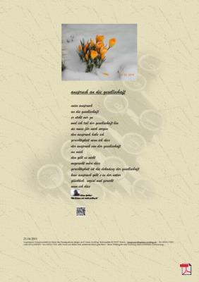 Anspruch an Gesellschaft (Mensch, Gesellschaft, Politik) - Gedicht - Gedanken