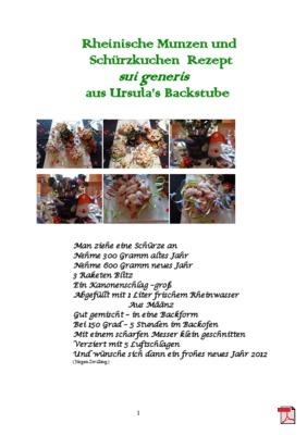 Rheinische Munzen und Schürzkuchen  Rezept  sui generis