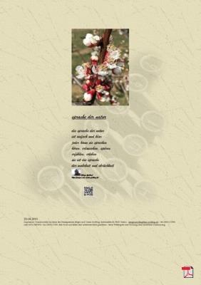 Sprache der Natur (Mensch, Gesellschaft, Natur) - Gedichte - Gedanken