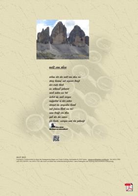 Die Welt von oben (Mensch, Gesellschaft, Natur)- Gedichte - Gedanken