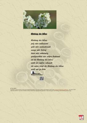 Kleidung des Lebens (Mensch, Gesellschaft, Natur) - Gedichte -Gedanken