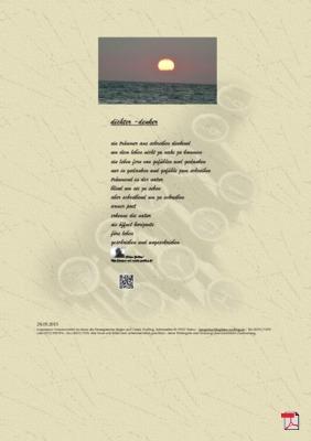 Dichter -Denker (Mensch, Gesellschaft, Natur) Gedichte - Gedanken