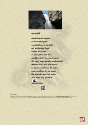 Wasserfall (Mensch, Gesellschaft, Familie, Natur) - Gedicht - Gedanken
