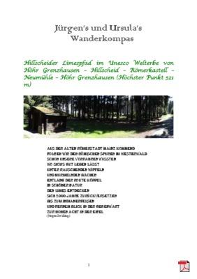 Wandertourbeschreibung  Hillscheider Limespfad - Route auf römischen Spuren