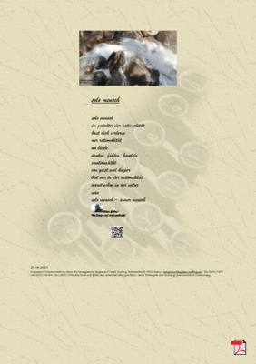 Solo Mensch (Mensch, Familie, Gesellschaft) -Gedichte - Gedanken
