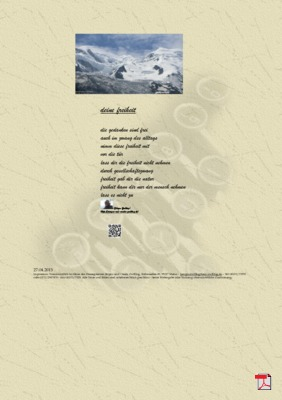 Deine Freiheit (Familie, Mensch, Gesellschaft) - Gedichte - Gedanken