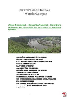 Wandertourbeschreibung  Mosel-Traumpfad Bergschluchtenpfad Ehrenburg