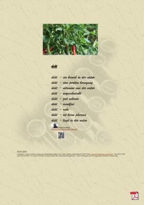 Diät (Mensch, Gesellschaft, Familie)  - Gedichte - Gedanken