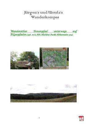 Wandertourbeschreibung  Wanderather Traumpfad unterwegs auf Pilgerpfaden