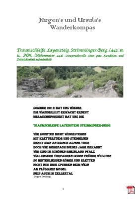 Wandertourbeschreibung   Traumschleife-Layensteig-Strimmiger-Berg