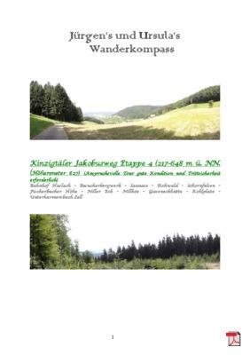 Wandertourbeschreibung Kinzigtäler Jakobusweg Etappe 4